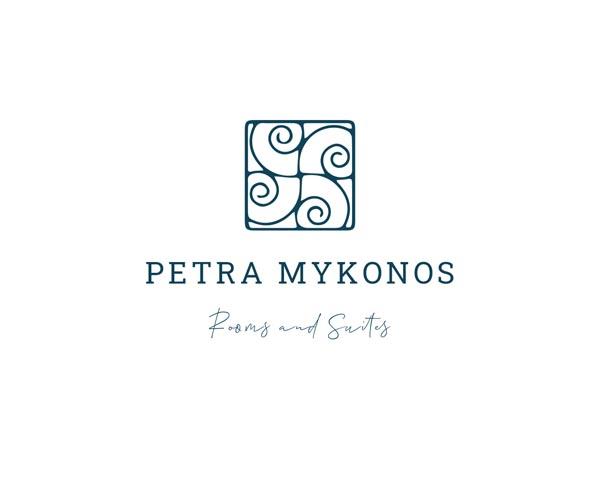 Σχεδιαμός λογοτύπου για ξενοδοχεία Petra στη Μύκόνο
