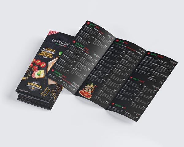 Σχεδιασμός διαφημιστικού εντύπου για διανομή πίτσας