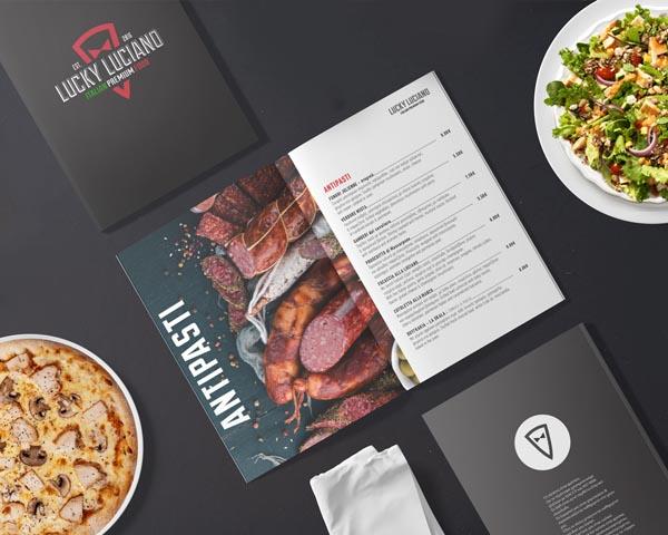 Σχεδιασμός και εκτύπωση καταλόγου φαγητού